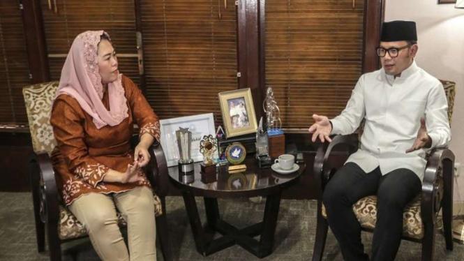 Wali Kota Bogor Bima Arya bertemu Yenny Wahid