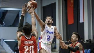 Duel Filipina vs Indonesia di Kualifikasi Piala Asia Basket 2021.