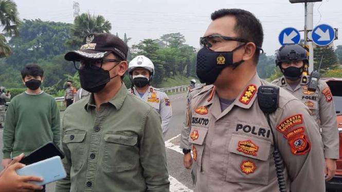 Penutupan pintu tol dan ganjil genap di Bogor.