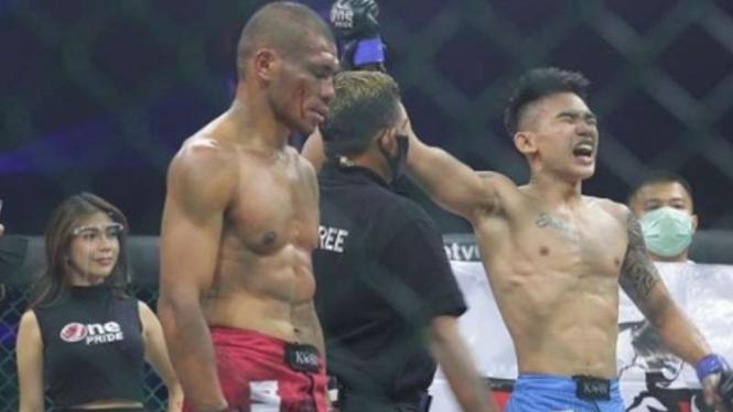 Nicolaus Brandon memenangkan pertarungan di One Pride MMA.