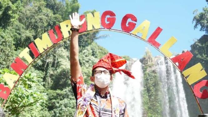 Menteri Pariwisata dan Ekonomi Kreatif Sandiaga Uno.