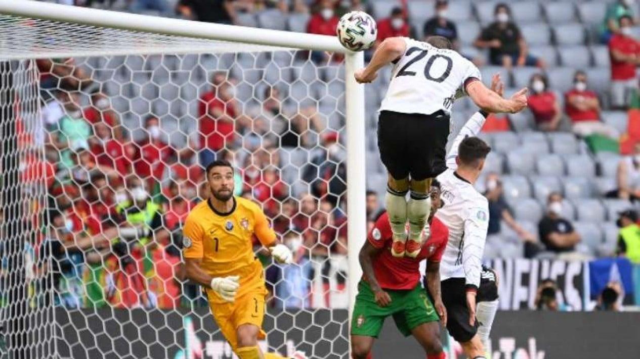 Duel Timnas Jerman vs Portugal.