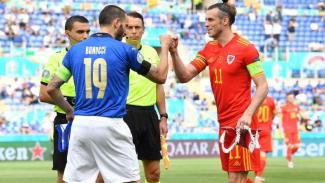 Duel Timnas Italia vs Wales.