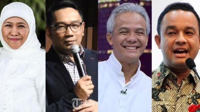 Khofifah Indar Parawansa, Ridwan Kamil, Ganjar Pranowo dan Anies Baswedan.