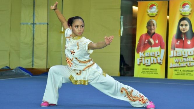 Atlet Wushu dari DKI Jakarta, Patricia Geraldine