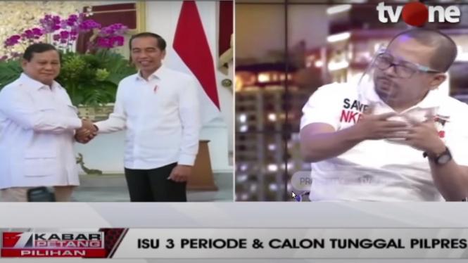 M. Qadari sampaikan gagasan dukung Jokowi 3 periode di Kabar Petang tvOne
