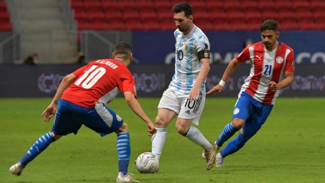 Pertandingan Timnas Argentina vs Paraguay
