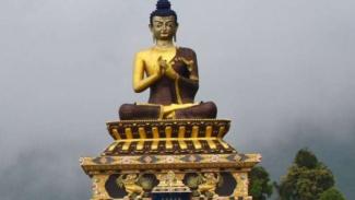 Biara Buddha di negara bagian Sikkem, India