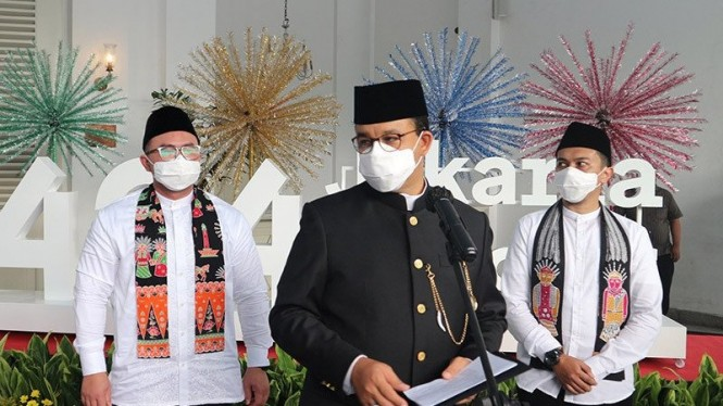 Gubernur DKI Jakarta Anies Baswedan hadiri HUT DKI Jakarta ke-494