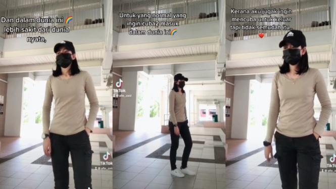Viral wanita cantik sulit keluar dari LGBT (Tiktok/afie_zaid)
