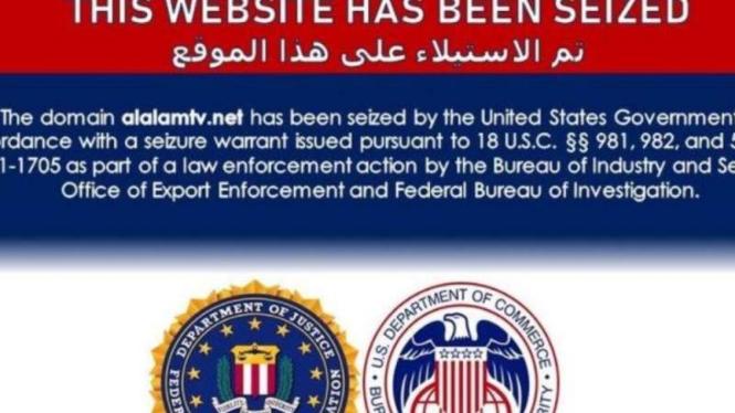 Situs-situs web Iran dan afiliasinya dibekukan otoritas AS