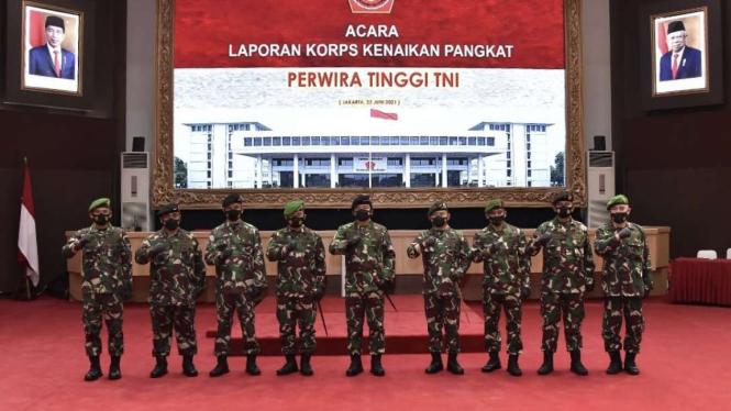 VIVA Militer: Panglima TNI pimpin Upacara Laporan Kenaikan Pangkat
