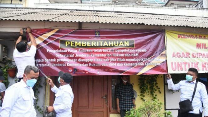 Kemenkumham ambil alih pengelolaan Pasar Babakan Tangerang.