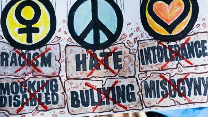 Ilustrasi ujaran kebencian.