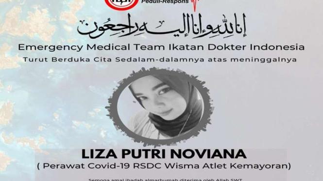 Tenaga kesehatan di RSDC Wisma Atlet meninggal dunia karena COVID-19