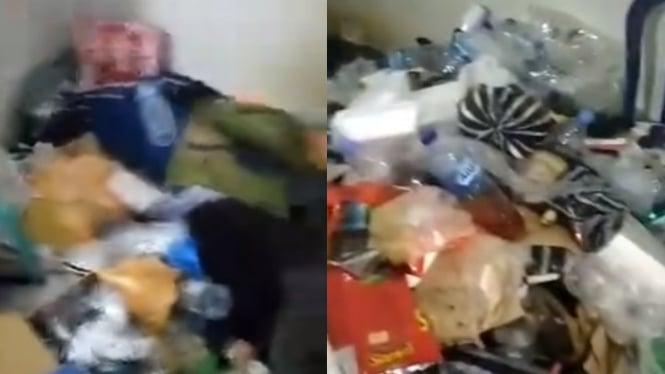 Viral bau mayat di kamar kos ternyata sampah (Instagram/makassar_iinfo)
