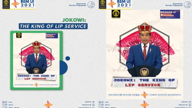 Meme Jokowi The King of Lip Service (Twitter/BEMUI_Official)
