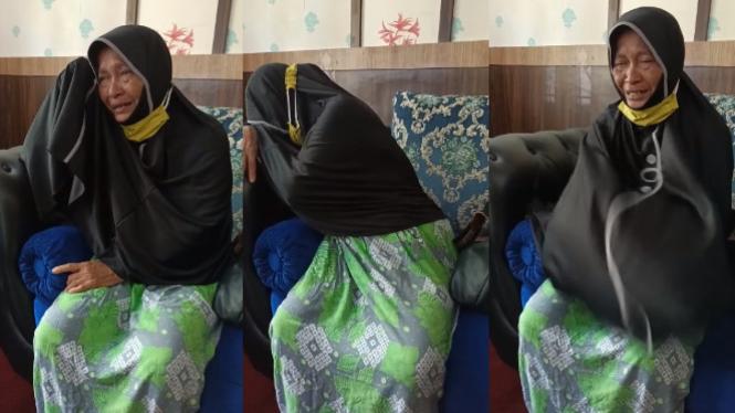 Viral ibu menangis dituntut anaknya  soal tanah warisan (Instagram/facebook salman al faiz)