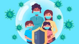 Ilustrasi virus corona.