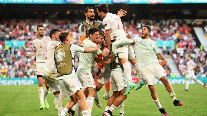Timnas Spanyol melenggang ke babak perempatfinal EURO 2020