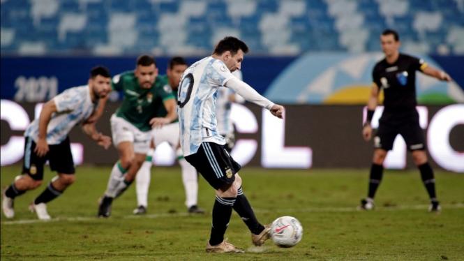 Megabintang Timnas Argentina, Lionel Messi.