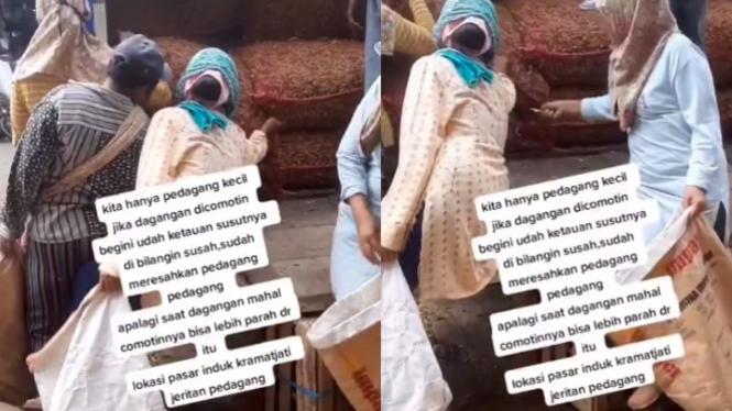 Viral Video Emak-emak Ramai-ramai Curi Dagangan Orang (Instagram/mak_lamis)