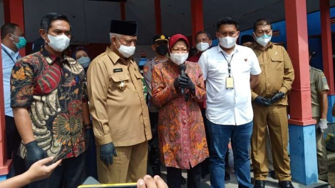 Menteri Sosial RI Tri Rismaharini alias Risma menginspeksi penyaluran dana PKH di Kabupaten Malang, Jawa Timur, Selasa, 29 Juni 2021, dan marah setelah menemukan penyimpangan sejak tahun 2017.