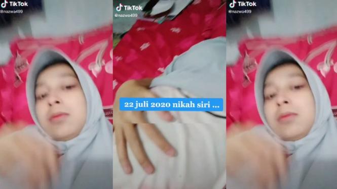 Viral Video Wanita Usia 21 Tahun Jadi Istri Kedua (TikTok/najwa499)