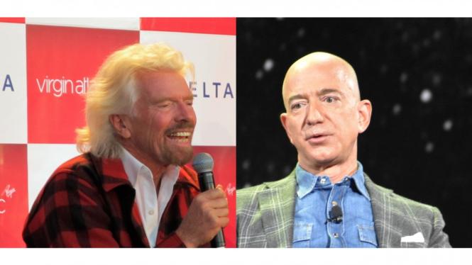 Richard Branson vs Jeff Bezos.