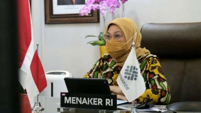 Menaker Ida Fauziyah umumkan syarat dapatkan subsidi gaji Rp 1 juta.