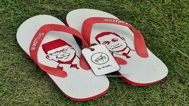 Viral sandal jepit berwajah Edhy Prabowo dan Juliari Batubara