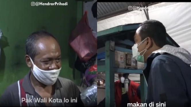 Video Sidak PPKM Ala Walkot Semarang Borong Gorengan (Instagram/hendrarprihadi)