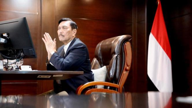 Menteri Koordinator Bidang Kemaritiman dan Investasi Luhut Binsar Pandjaitan.