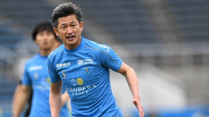 Pemain tertua J League, Kazuyoshi Miura
