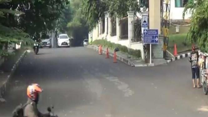 Lokasi seorang polisi dikeroyok geng motor di Cilandak, Jakarta Selatan