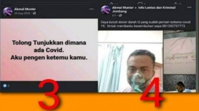 Penantang COVID-19 dari Jombang Dikabarkan Meninggal (Facebook/BejoMulyaWaskita)
