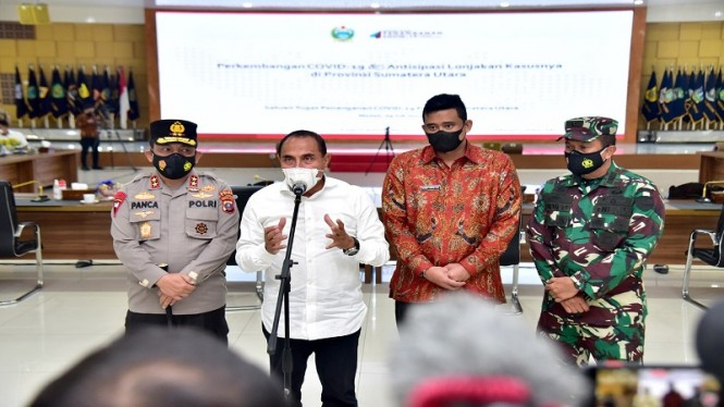 Gubernur Sumut Edy Rahmayadi Umumkan Medan masuk PPKM darurat