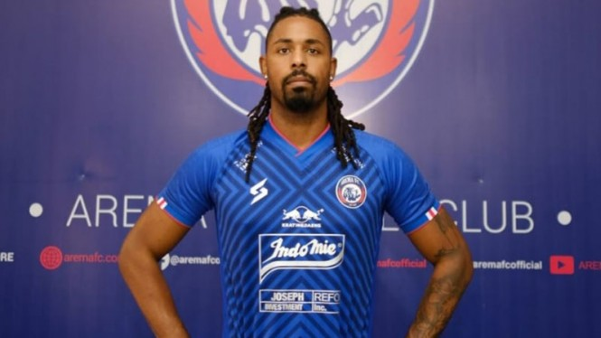 Penyerang asing Arema FC asal Portugal, Carlos Fortes