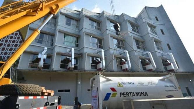Pertamina pasok Oksigen 20 Ton ke RS Darurat Asrama Haji.