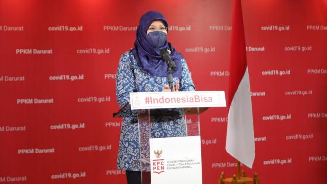 Juru Bicara Vaksinasi COVID-19 Kementerian Kesehatan, dr. Siti Nadia Tarmizi