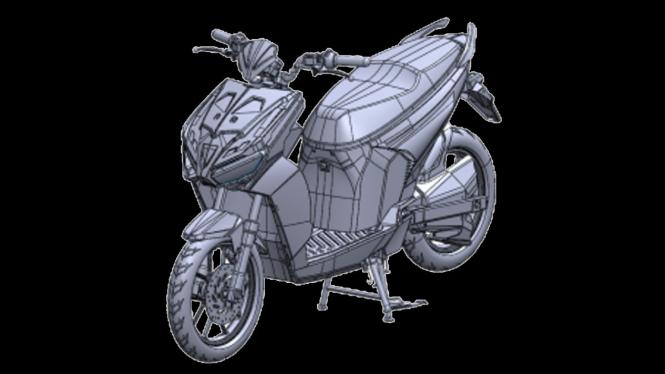 Bocoran motor listrik baru dari Gesits.