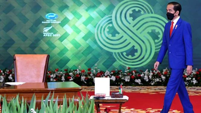 Presiden Jokowi di KTT Informal APEC 2021 Secara Virtual