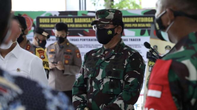 VIVA Militer: Panglima TNI Marsekal Hadi Tjahjanto ketika berkunjung ke Sidoarjo