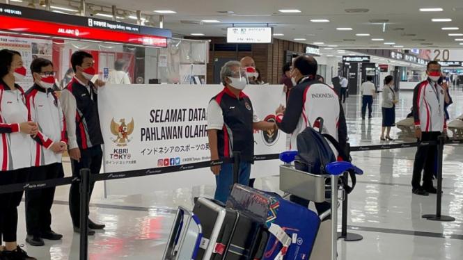 Tim Olimpiade Indonesia tiba di Jepang