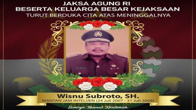 Mantan Jamintel Kejagung Wisnu Subroto meninggal dunia