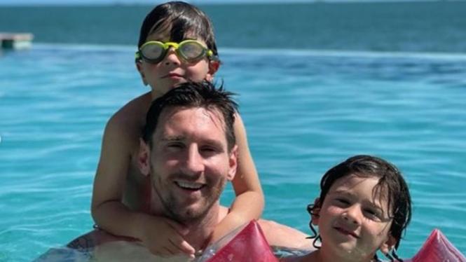 Bintang Timnas Argentina, Lionel Messi dan anaknya