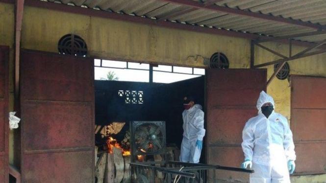 Ilustrasi kremasi jenazah COVID-19.