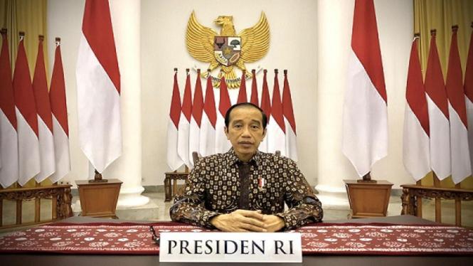 Presiden Jokowi saat mengumumkan perpanjangan PPKM Darurat hingga 25 Juli
