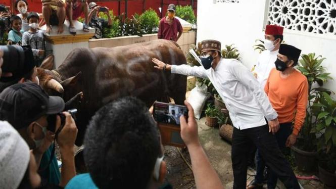 Menparekraf Sandiaga Uno dan pedangdut Rhoma Irama