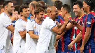 Real Madrid Legends vs Barcelona Legends.